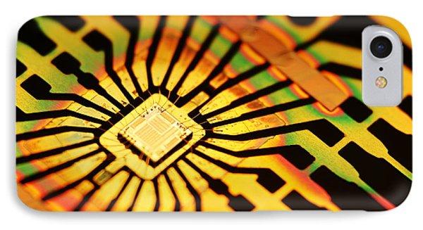 Computer Microchip Phone Case by Pasieka