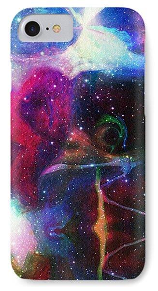 Cosmic Connection Phone Case by Linda Sannuti