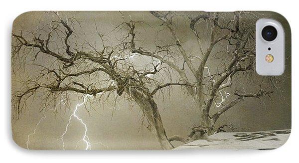 Country Horses Lightning Storm Ne Boulder Co 66v Bw Art IPhone Case by James BO  Insogna