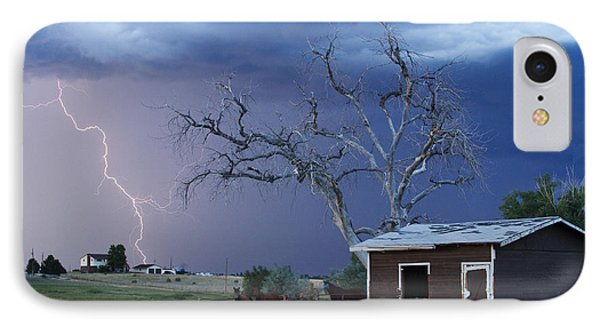 Country Horses Lightning Storm Ne Boulder County Co  63 IPhone Case by James BO  Insogna