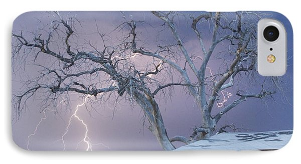 Country Horses Lightning Storm Ne Boulder County Co 66v IPhone Case by James BO  Insogna