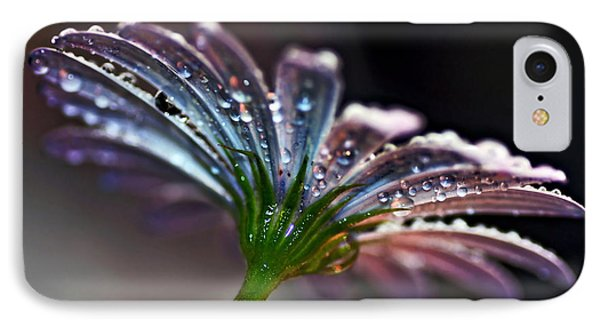 Daisy Abstract With Droplets Phone Case by Kaye Menner