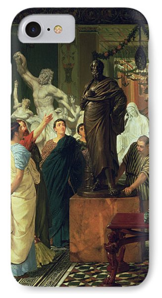 Dealer In Statues  Phone Case by Sir Lawrence Alma-Tadema
