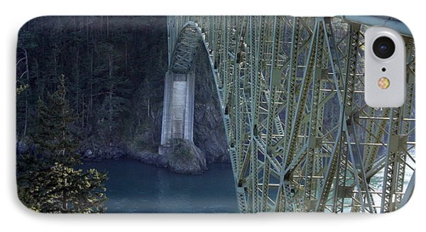 Deception Pass Bridge South Span Phone Case by Randall Thomas Stone