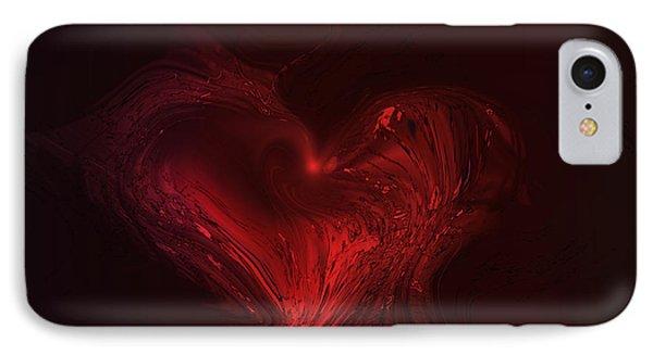 Deep Hearted Phone Case by Linda Sannuti