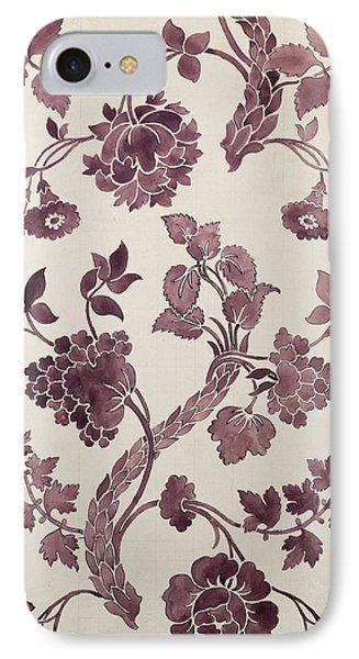 Design For A Silk Damask Phone Case by Anna Maria Garthwaite