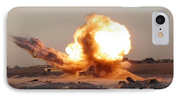 Detonation Of A Weapons Cache Phone Case by Stocktrek Images