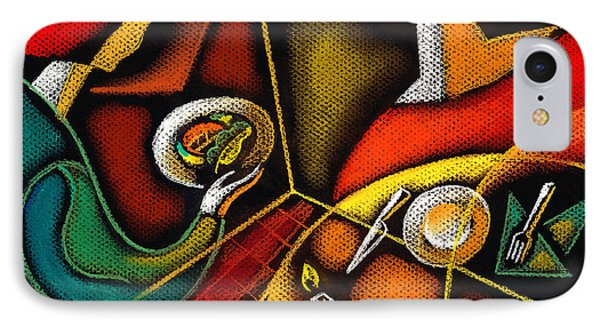 Dinner IPhone Case by Leon Zernitsky