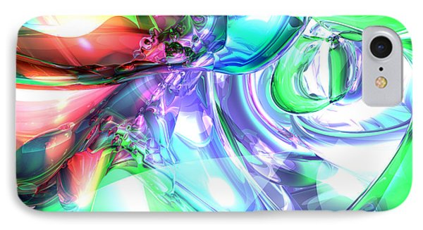 Disorderly Color Abstract Phone Case by Alexander Butler
