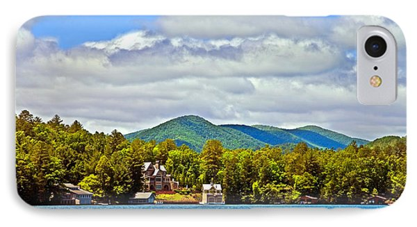 Distant Lake View In Spring Phone Case by Susan Leggett