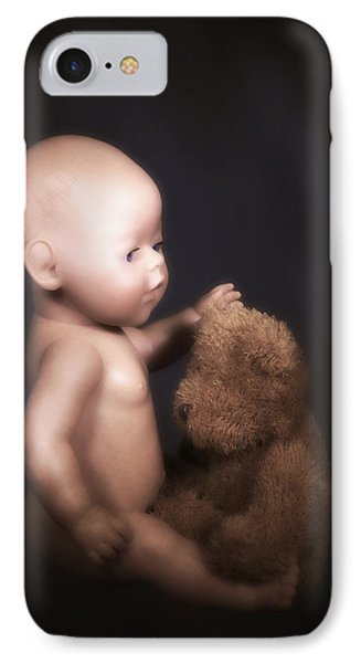 Doll And Bear Phone Case by Joana Kruse