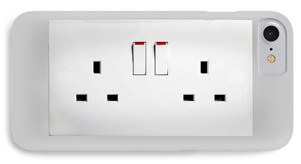 Domestic Electrical Sockets IPhone Case by Victor De Schwanberg