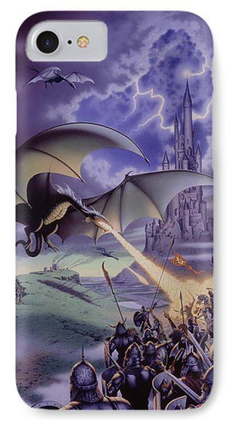 Dragon Combat IPhone Case by The Dragon Chronicles - Steve Re