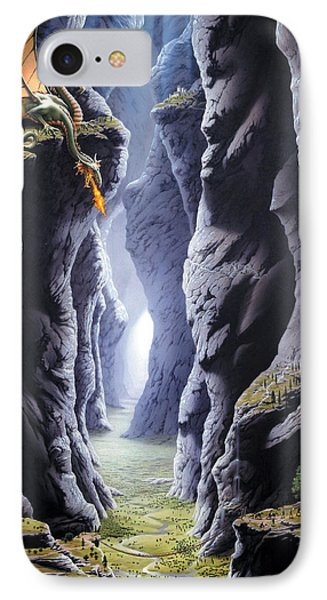 Dragons Pass IPhone Case by The Dragon Chronicles - Steve Re
