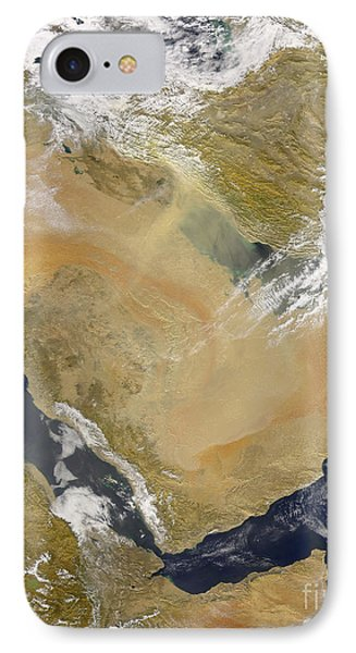 Dust And Smoke Over Iraq And The Middle Phone Case by Stocktrek Images