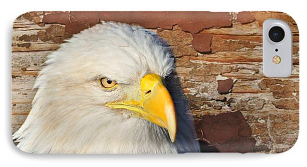 Eagle On Brick Phone Case by Marty Koch