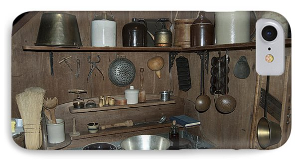Early American Utensils Phone Case by Michael Peychich