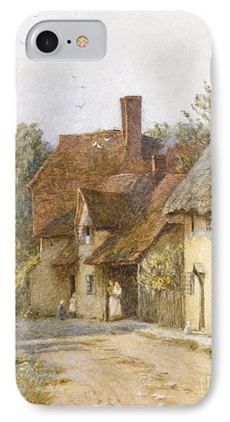 East Hagbourne Berkshire IPhone Case by Helen Allingham