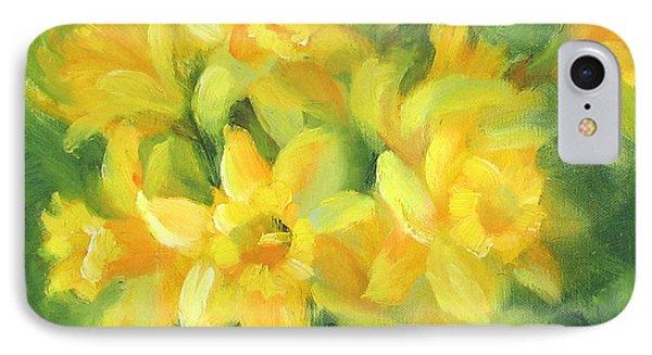 Easter Daffodils Phone Case by Karin  Leonard