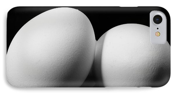 Eggs In Black And White IPhone Case by Lori Coleman