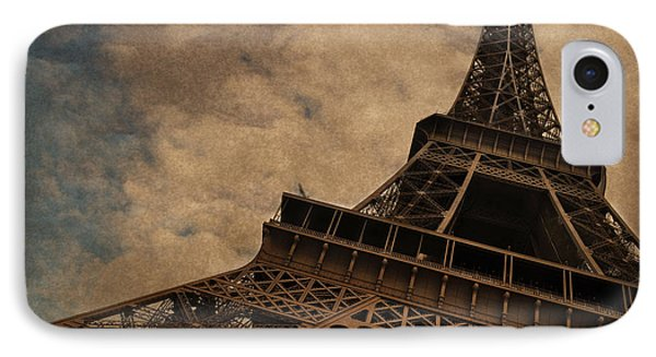 Eiffel Tower 2 IPhone 7 Case by Mary Machare