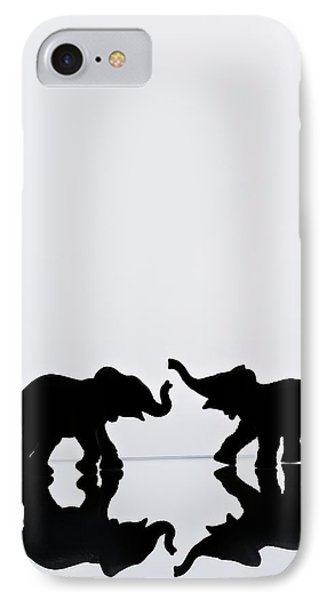 Elephant Pair Reflection Phone Case by Chris Knorr