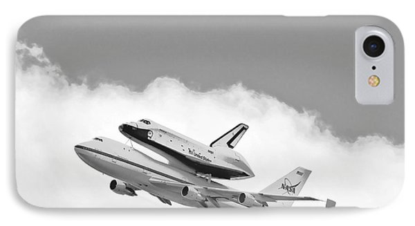 Enterprise Shuttle Over Ny Phone Case by Regina Geoghan