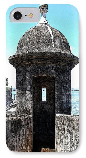 Entrance To Sentry Tower Castillo San Felipe Del Morro Fortress San Juan Puerto Rico Poster Edges Phone Case by Shawn O'Brien