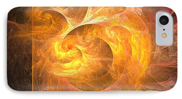 Eternal Flame - Abstract Digital Art IPhone Case by Sipo Liimatainen