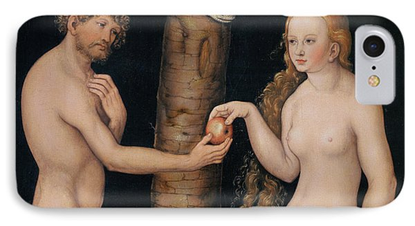 Eve Offering The Apple To Adam In The Garden Of Eden Phone Case by The Elder Lucas Cranach