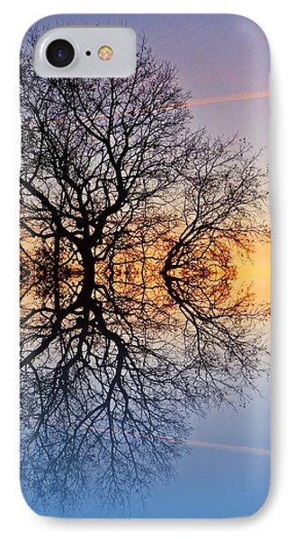 Evening Sky Trails IPhone Case by Sharon Lisa Clarke