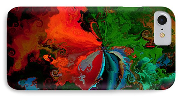 Faa Abstract 3 Invasion Of The Reds IPhone Case by Claude McCoy