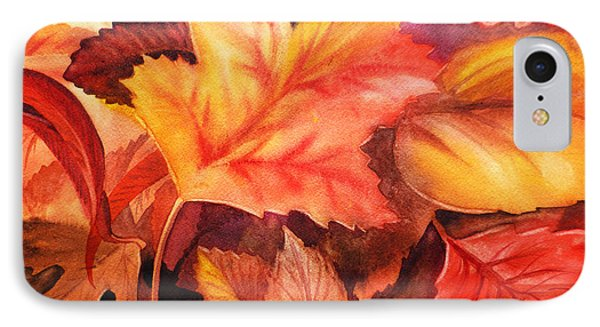 Fall Leaves IPhone Case by Irina Sztukowski