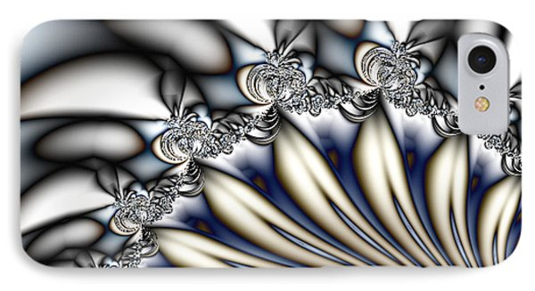 Fanfare - An Abstract Fractal Design IPhone Case by Gina Lee Manley