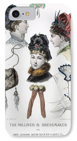 Fashion: Hats, C1875 Phone Case by Granger