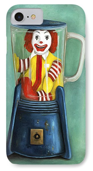 Fast Food Nightmare 2 The Happy Meal Phone Case by Leah Saulnier The Painting Maniac