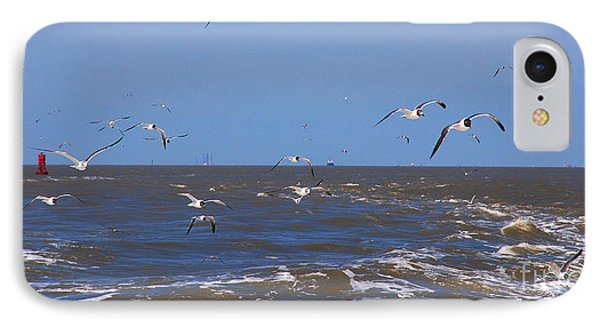 Feed Us - Ferry To Galveston Tx Phone Case by Susanne Van Hulst
