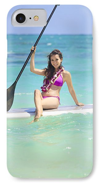 Female Paddler II Phone Case by Tomas del Amo