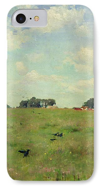 Field With Trees And Sky Phone Case by Walter Frederick Osborne