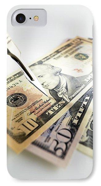Financial Cuts Phone Case by Tek Image