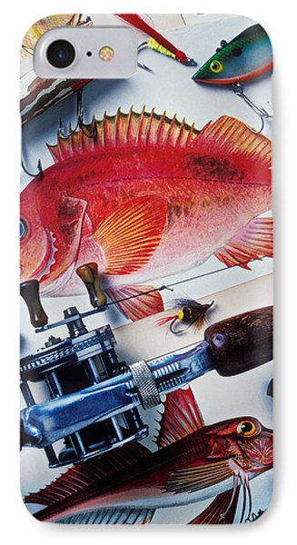 Fish Bookplates And Tackle Phone Case by Garry Gay