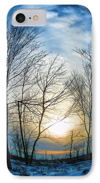 Fisheye Winter Landscape IPhone Case by Debra     Vatalaro