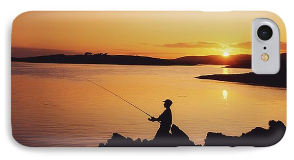Fishing At Sunset, Roaring Water Bay Phone Case by The Irish Image Collection