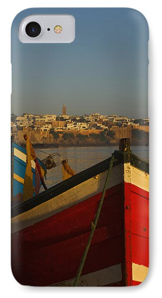 Fishing Boats In Front Of Kasbah Des Phone Case by Axiom Photographic