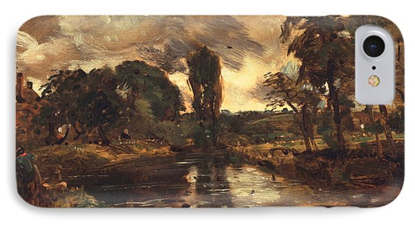 Flatford Mill From The Lock Phone Case by John Constable