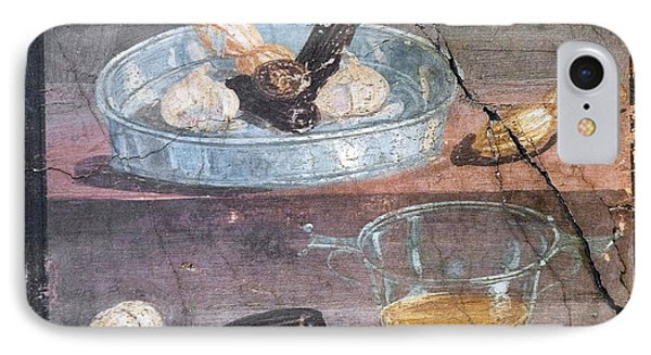Food And Glass Dishes, Roman Fresco Phone Case by Sheila Terry