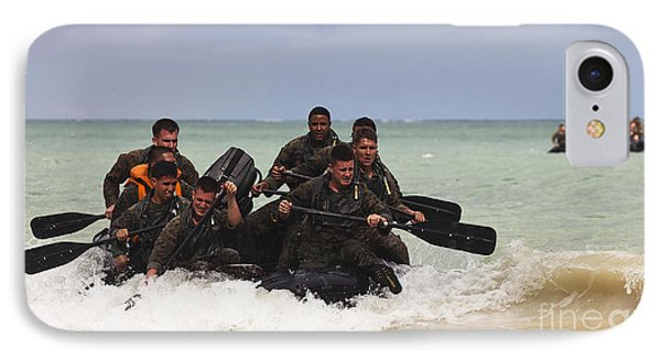 Force Reconnaissance Marines Paddle IPhone Case by Stocktrek Images