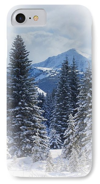 Forest In The Winter Phone Case by Carson Ganci