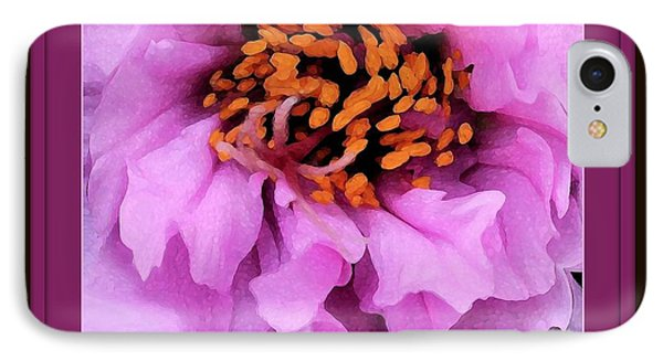 Framed In Purple - Abstract Floral Phone Case by Carol Groenen