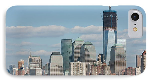Freedom Tower And Manhattan Skyline II Phone Case by Clarence Holmes